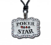 "Pewter Pendant ""Poker Star"" 001"