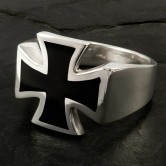 Silver Ring  Iron Cross