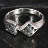 Lucky Dice Silver Ring