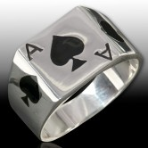 Ace of Spades Silver Ring 001