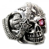 Silver Ring Skull  Royal Pirate