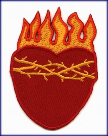 "Patch ""Heart in Flames"""