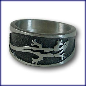 "Ring from Pewter ""Lizard"" – picture 1"