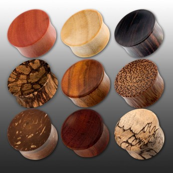 Concave Saddle Plugs from different Woods – picture 1