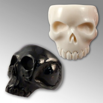 Horn or Bone Ring - Classic Skull – picture 1