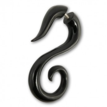 Fake Piercing Spiral Ear-Hangers from Horn or Bone – picture 3