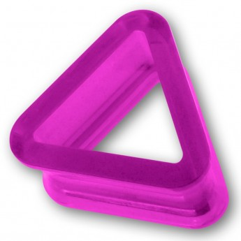 Triangle Acrylic Flesh Tunnel in 9 different colors – picture 4