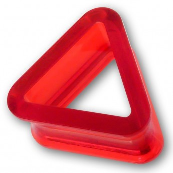 Triangle Acrylic Flesh Tunnel in 9 different colors – picture 6