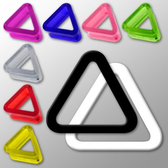 Triangle Acrylic Flesh Tunnel in 9 different colors – picture 1
