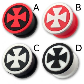 "Silicon Ear Plug ""Iron Cross"" in different Colors – picture 1"