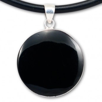 Silver Pendant in Red, Black, Turqois, Paua Shell or Mother of Pearl with Shiva's Eye – picture 10