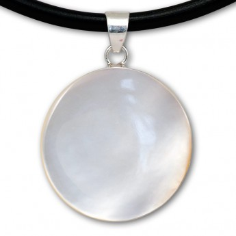 Silver Pendant in Red, Black, Turqois, Paua Shell or Mother of Pearl with Shiva's Eye – picture 12