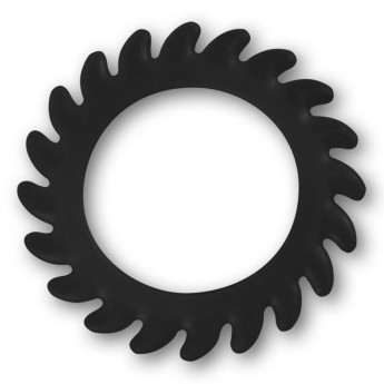Silicone Flesh Tunnel - Saw Blade - in different colors and sizes – picture 5