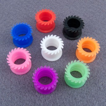 Silicone Flesh Tunnel - Saw Blade - in different colors and sizes – picture 2