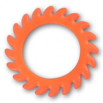 Silicone Flesh Tunnel - Saw Blade - in different colors and sizes – picture 6