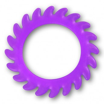 Silicone Flesh Tunnel - Saw Blade - in different colors and sizes – picture 8