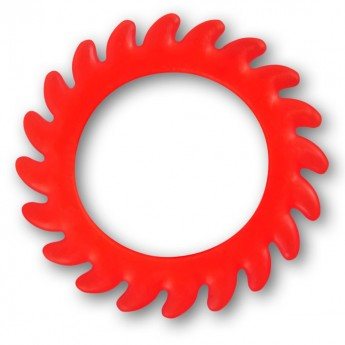 Silicone Flesh Tunnel - Saw Blade - in different colors and sizes – picture 4