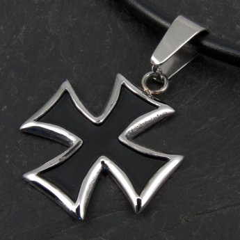 Stainless Steel Pendant - Black Iron Cross – picture 2