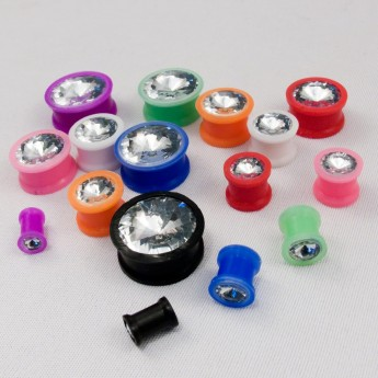 Silicone Plug with Zirconia stone in different colors – picture 10