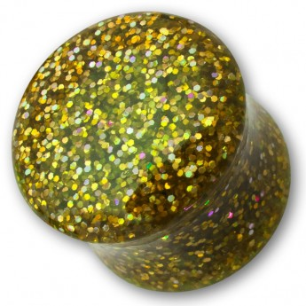 Sparkling Acrylic Glitter Saddle Plug in different colors – picture 3