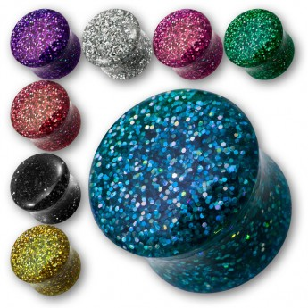 Sparkling Acrylic Glitter Saddle Plug in different colors – picture 1
