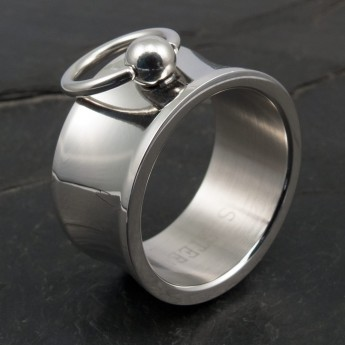 "Stainless Steel Ring ""Ring of O"" - wide & concave – picture 3"