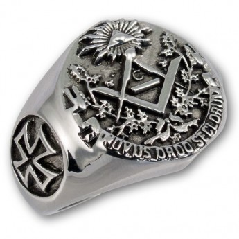 Anillo Acero inoxidable Sello Masónico / Illuminati – picture 1