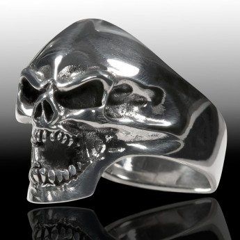 Stainless Steel Ring Death Head Screaming Skull – picture 2