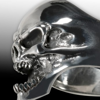 Stainless Steel Ring Death Head Screaming Skull – picture 3
