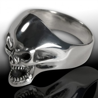 Stainless Steel Ring Death Head Screaming Skull – picture 4