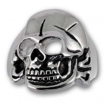 Stainless Steel Ring Hussar Skull – picture 3
