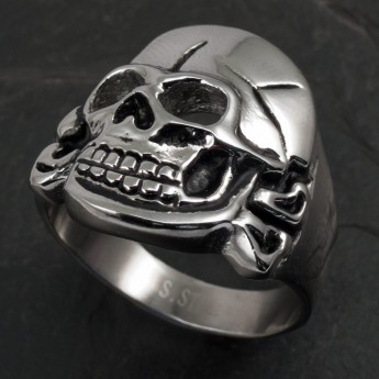Stainless Steel Ring Hussar Skull – picture 1