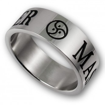 Stainless Steel Ring - MASTER / SLAVE or MISTRESS with BDSM Triskel – picture 6