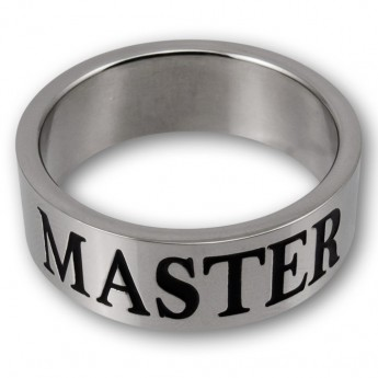 Stainless Steel Ring - MASTER / SLAVE or MISTRESS with BDSM Triskel – picture 5