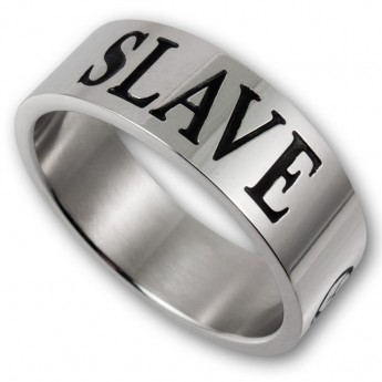 Stainless Steel Ring - MASTER / SLAVE or MISTRESS with BDSM Triskel – picture 3