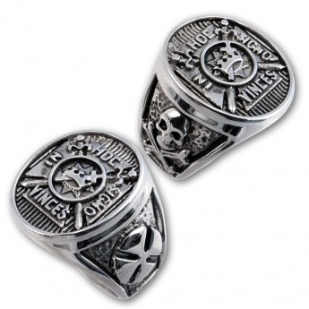 Knight´s Templar Stainless Steel Signet Ring - In Hoc Signo Vinces – picture 2
