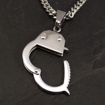 Stainless Steel Pendant - Handcuffs - from 316L surgical steel – picture 2
