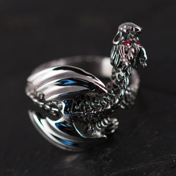 Stainless Steel Ring - Winged Dragon – picture 2