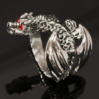 Stainless Steel Ring - Winged Dragon – picture 1