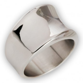 Elegant Curved 316L Stainless Steel Designer Ring – picture 8