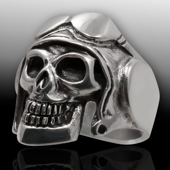 Stainless Steel Skull Ring - Pilot – picture 1