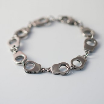 Stainless Steel Bracelet - Handcuffs - from 316L surgical steel – picture 3