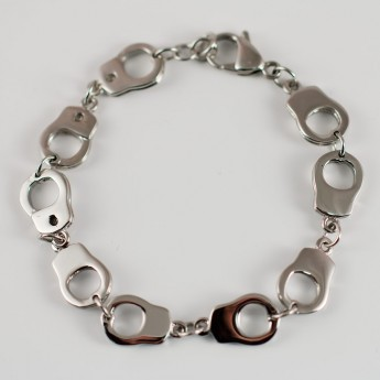 "Stainless Steel Bracelet ""Handcuffs"" from 316L surgical steel"