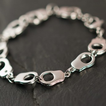 Stainless Steel Bracelet - Handcuffs - from 316L surgical steel – picture 2