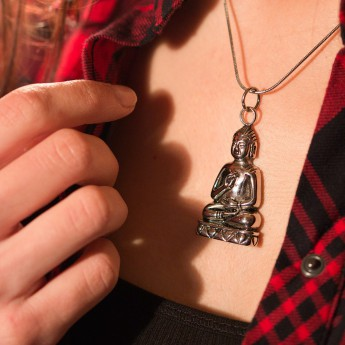 Stainless Steel Pendant - Laughing Buddha – picture 2