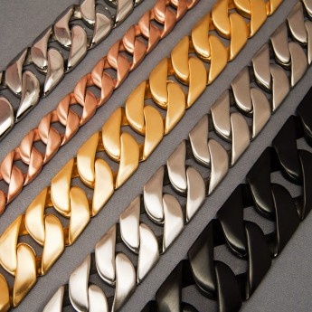 Curb Chain Bracelet in different lengths and widths – picture 1