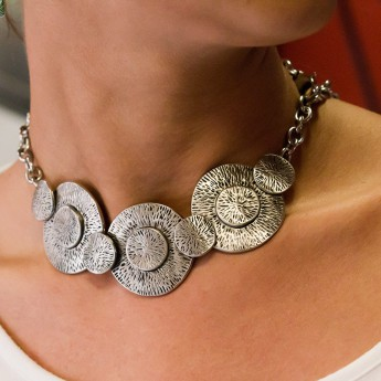 Stainless Steel Necklace - Aztec Sun Discs – picture 3