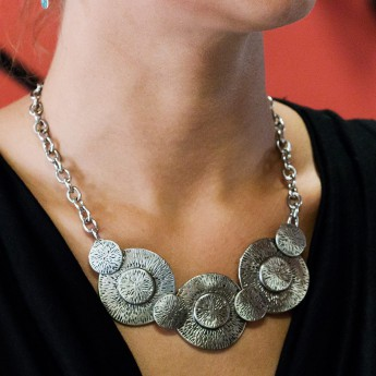 Stainless Steel Necklace - Aztec Sun Discs – picture 1