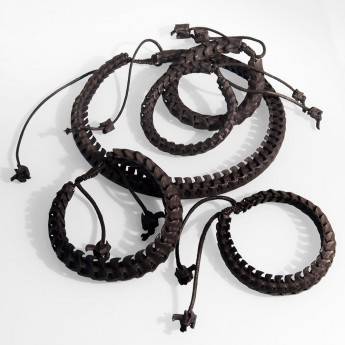 Bracelet, necklace or key chain made ​​from real snake bone in various colors and thicknesses – picture 2