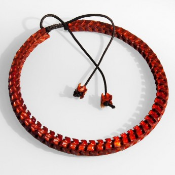 Bracelet, necklace or key chain made ​​from real snake bone in various colors and thicknesses – picture 5
